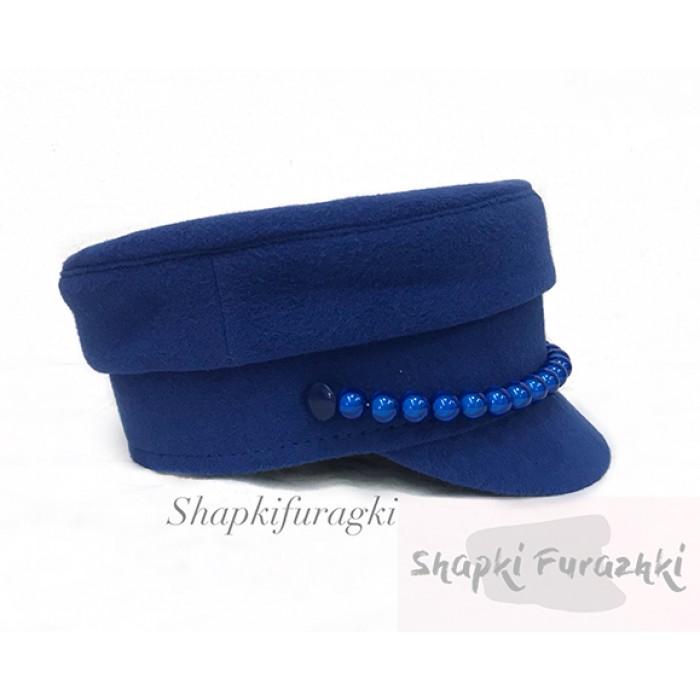 Картуз-кепи женский синий 163