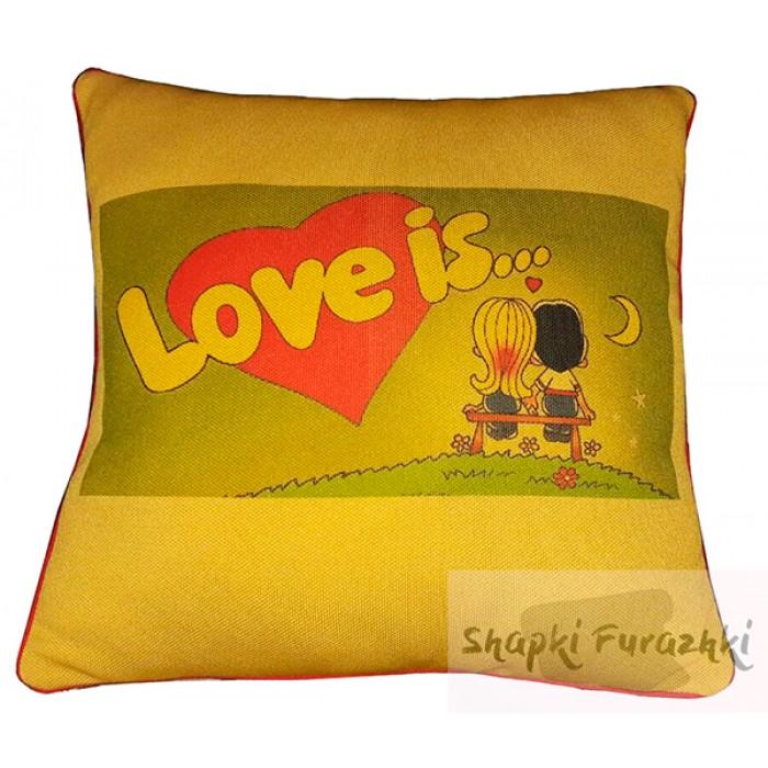 Подушка с фотопринтом Love is 021