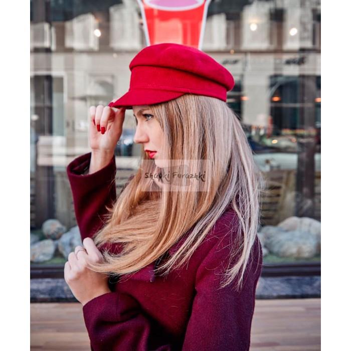 Кепи-картуз женский красный 176