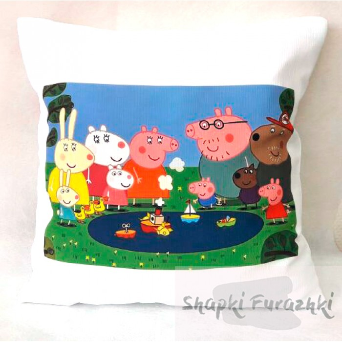 Подушка с фотопринтом Свинка Пеппа 034